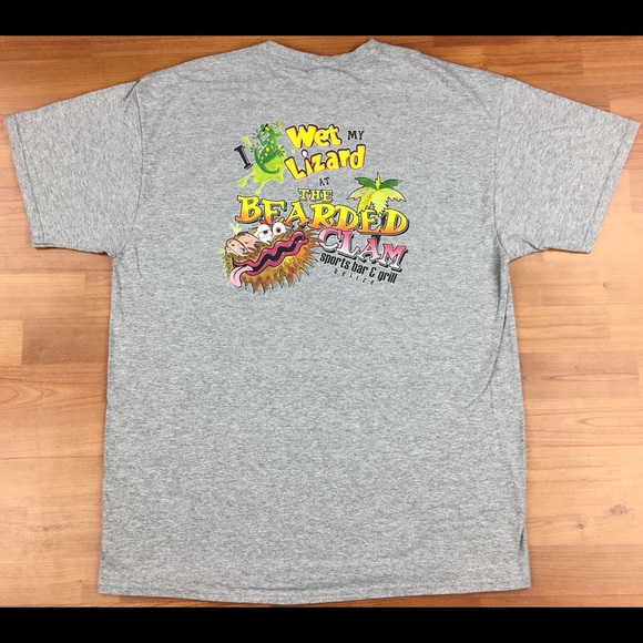 Fruit of the Loom Other - The Bearded Clam Sports Bar & Grill Belize T-Shirt